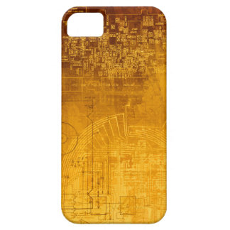 Empollón del friki del ordenador de placa de funda para iPhone SE/5/5s