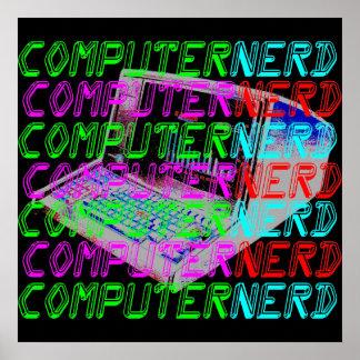 Empollón del ordenador del estilo del vintage del  impresiones