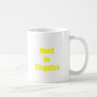 Empollón en disfraz taza de café