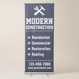 Empresa de la construcción del agente inmobiliario pancarta retráctil