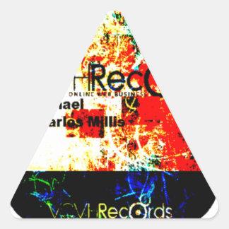 empresa de los expedientes del feature_graphics pegatina triangular