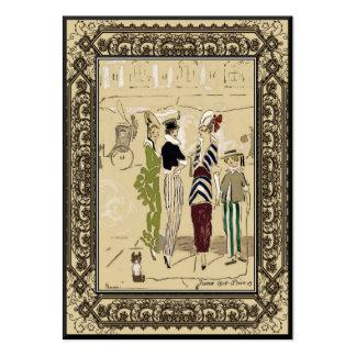 Empresa del diseño de la moda del vintage pequeña tarjetas de visita grandes