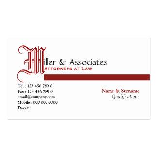 Empresa legal del abogado de la ley del abogado tarjetas de visita