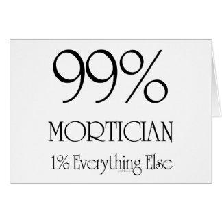 Empresario de pompas fúnebres del 99% tarjetas