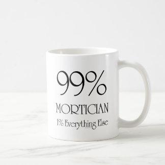 Empresario de pompas fúnebres del 99% taza de café