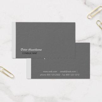 Empresario mínimo y profesional del estilo   del tarjeta de negocios