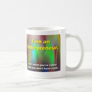 empresario taza de café