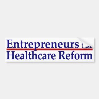 Empresarios para la reforma de la atención sanitar pegatina para coche