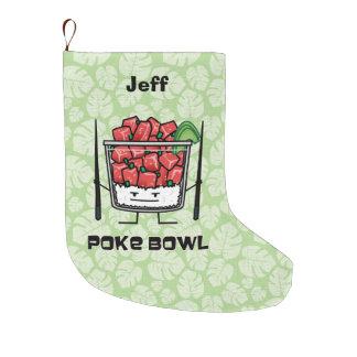 Empuje el aku de los palillos de la ensalada de calcetín navideño grande