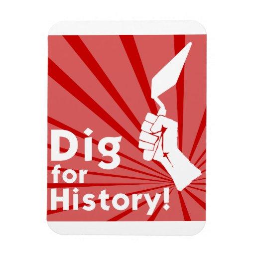 ¡Empuje para la historia! Imán del refrigerador