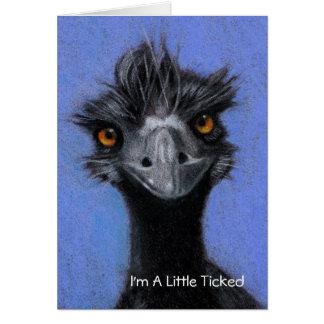 EMU: Soy UN POCO HICE TICTAC: OLVIDÓ SU BIRHTDAY Tarjeta De Felicitación