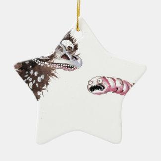 Emu y gusano ornaments para arbol de navidad
