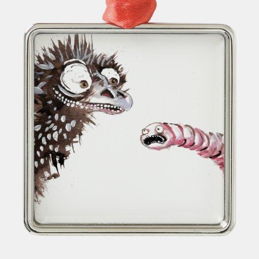 Emu y gusano ornamento de reyes magos