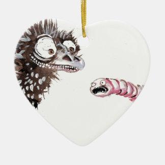 Emu y gusano ornamente de reyes