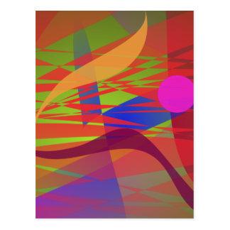 Emulación de Kandinsky Oriental de la composición Postal