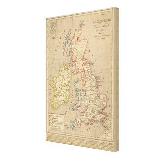 En 1100 de Angleterre, de Ecosse, de Irlande y del Impresión En Lienzo