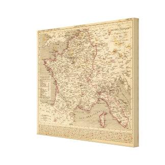 En 1809 del d'Italie del imperio Francais y de Roy Impresión En Lona