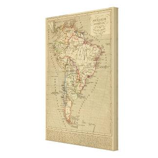 En 1840 de Amerique Meridionale Impresión En Lienzo Estirada