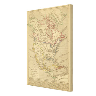 En 1840 de Amerique Septentrionale Impresión En Tela