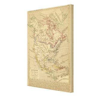 En 1840 de Amerique Septentrionale Impresion En Lona
