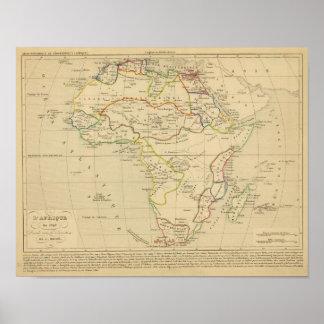 En 1840 de L'Afrique Póster