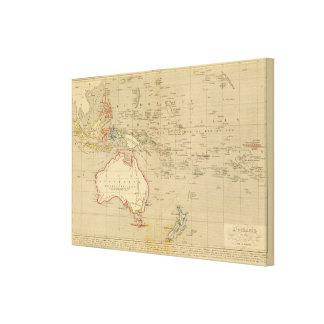 En 1841 de L'Oceanie Lienzo Envuelto Para Galerías