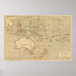 En 1841 de L'Oceanie Póster