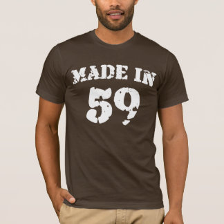 En 1959 camisa hecha