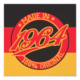 En 1964 Alemania hecha Invitación 13,3 Cm X 13,3cm