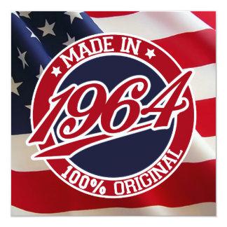 En 1964 los E.E.U.U. hechos los Estados Unidos de Invitación 13,3 Cm X 13,3cm