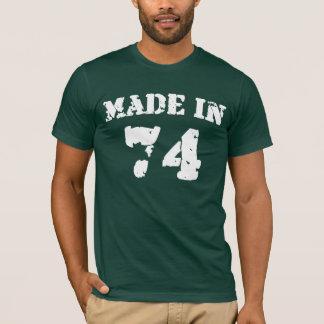 En 1974 camisa hecha