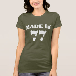 En 1977 camisa hecha
