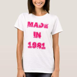 En 1981 camiseta hecha