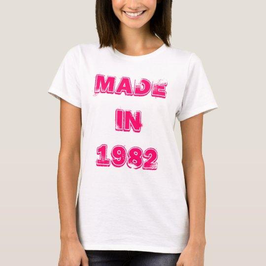 En 1982 camiseta hecha