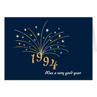En 1994 tarjeta de felicitación llevada del