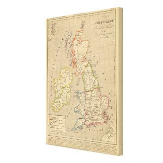 En 900 de Angleterre, de Ecosse y de Irlande Impresiones De Lienzo