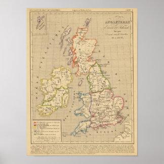 En 900 de Angleterre, de Ecosse y de Irlande Impresiones
