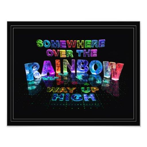 En alguna parte sobre el arco iris arte fotográfico