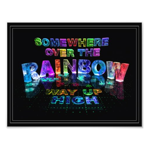 En alguna parte sobre el arco iris impresiones fotograficas