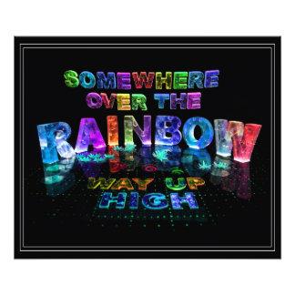 En alguna parte sobre el arco iris arte con fotos