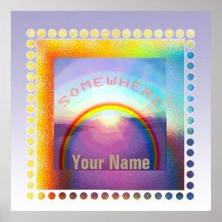 """""""En alguna parte sobre poster del arco iris"""" Póster"""