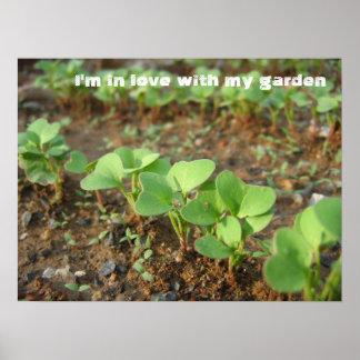 En amor con el jardín - póster