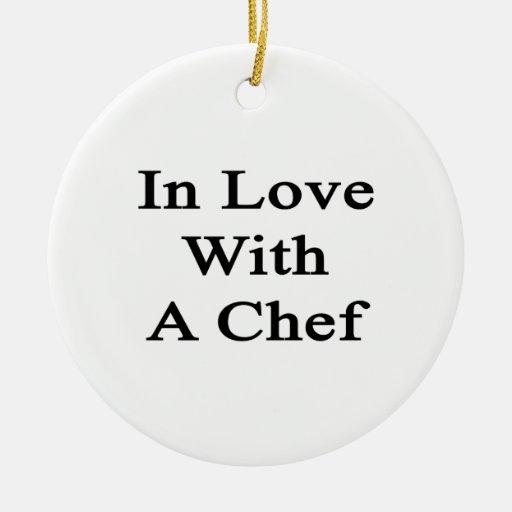 En amor con un cocinero adorno de navidad