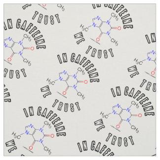 En cafeína confiamos en química de la molécula del tela