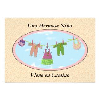 En Camino fiesta de bienvenida al bebé de Viene de Invitaciones Personales