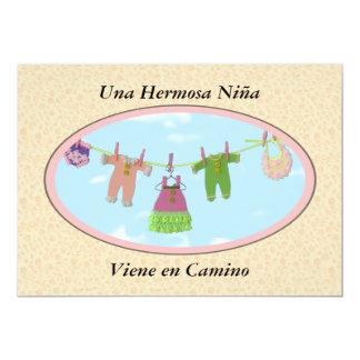 En Camino/fiesta de bienvenida al bebé de Viene Invitación 12,7 X 17,8 Cm