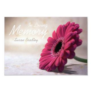 En ceremonia conmemorativa floral de la memoria invitación 8,9 x 12,7 cm