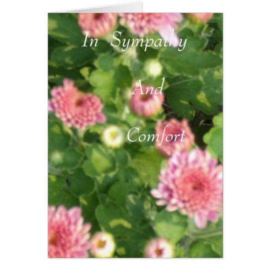 En condolencia tarjeta de felicitación