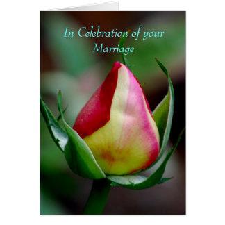 En conmemoración de su boda tarjeta de felicitación
