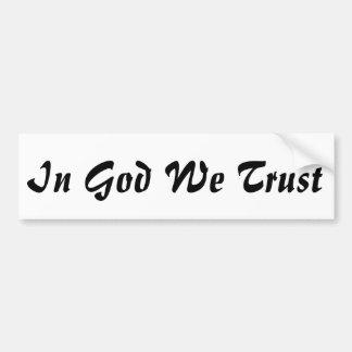 En dios confiamos en a la pegatina para el